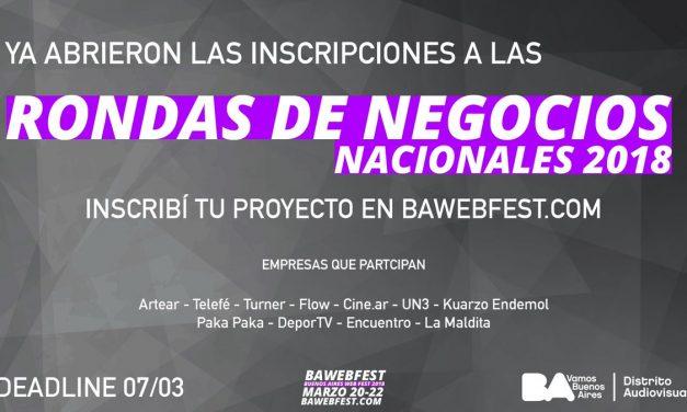 RONDA DE NEGOCIOS INTERNACIONAL DEL SECTOR AUDIOVISUAL WEB BAWEBFEST 2018