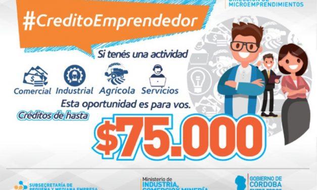 La Provincia amplía a $75.000 el monto de créditos a microemprendedores