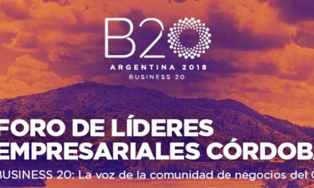 SE VIENE EL FORO DE LÍDERES EMPRESARIALES DE CORDOBA – BUSINESS 20 (B20)