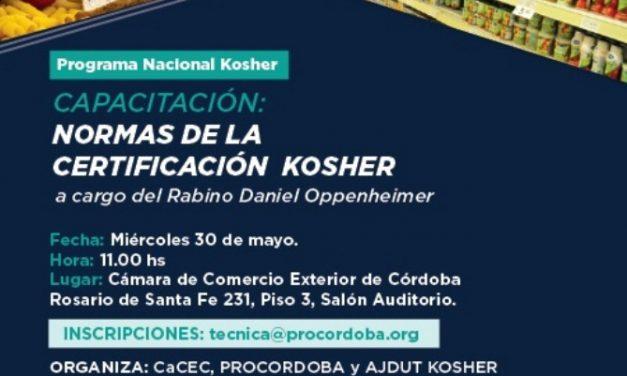 Capacitación: Normas para la Certificación Kosher