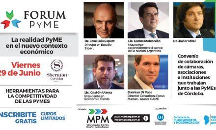 """1er FORUM PYME """"La realidad Pyme en el nuevo contexto económico"""""""