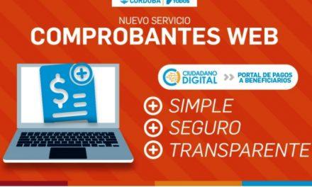 """Córdoba pone en práctica el servicio """"Comprobantes web"""""""