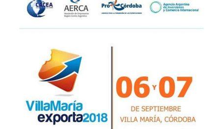 """Ronda Internacional de Negocios """"Villa María Exporta 2018"""""""