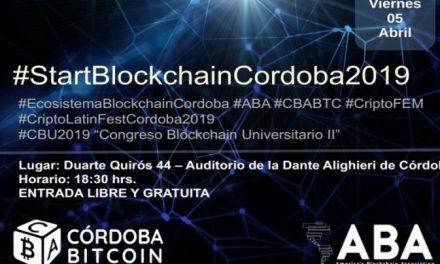 Argentina: lanzarán #StartBlockchainCordoba2019 en la ciudad de Córdoba