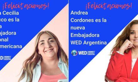 WED (Women´s Entrepreneurship Day Organization) tiene nuevas embajadoras y son argentinas