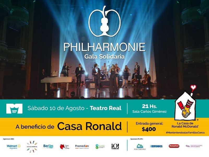 Gala Solidaria: Philharmonie  a beneficio de Casa Ronald