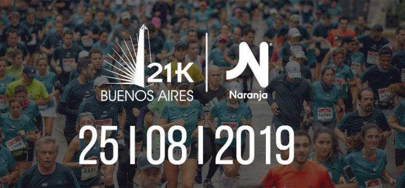 Naranja será main sponsor de la Maratón 21k de Buenos Aires
