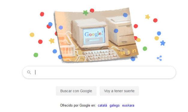 Google cumple 21 años y lo celebra con un nuevo 'doodle'