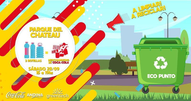 El Parque del Chateu se viste de Greentech y de Coca Cola