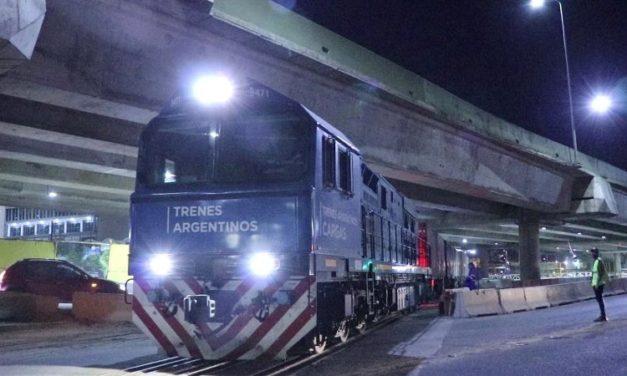 Luego de 14 años, ingresó al Puerto Buenos Aires una formación del tren San Martín