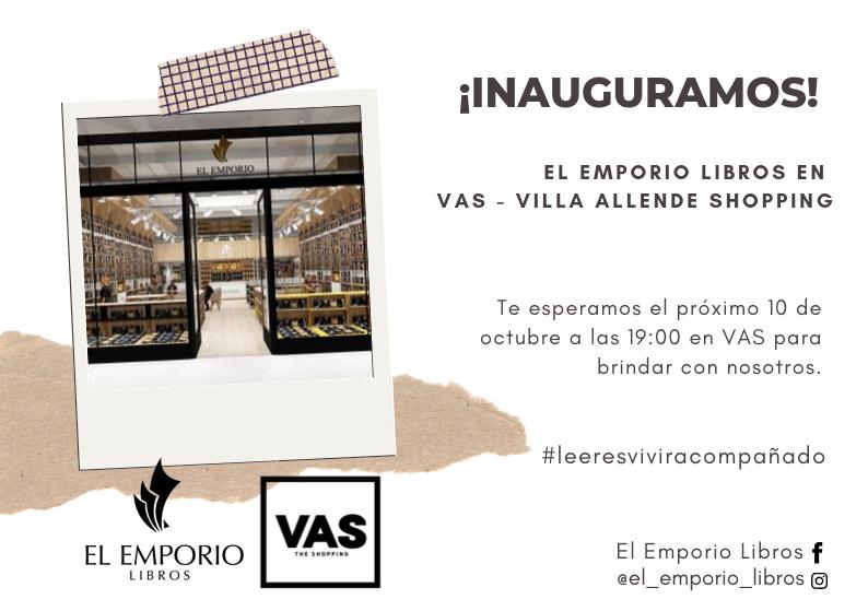 El Emporio Libros inaugura local en Villa Allende Shopping