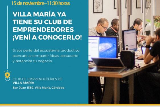 Villa María tendrá su propio Club de Emprendedores