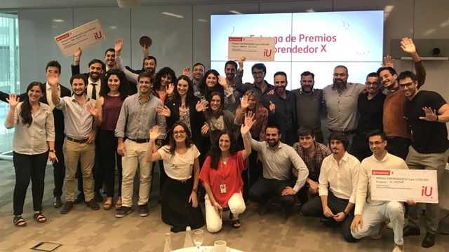 Santander entregó $700.000 a los mejores emprendedores universitarios
