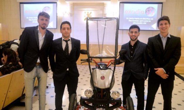 Estudiantes argentinos inventan un vehículo sustentable e inclusivo