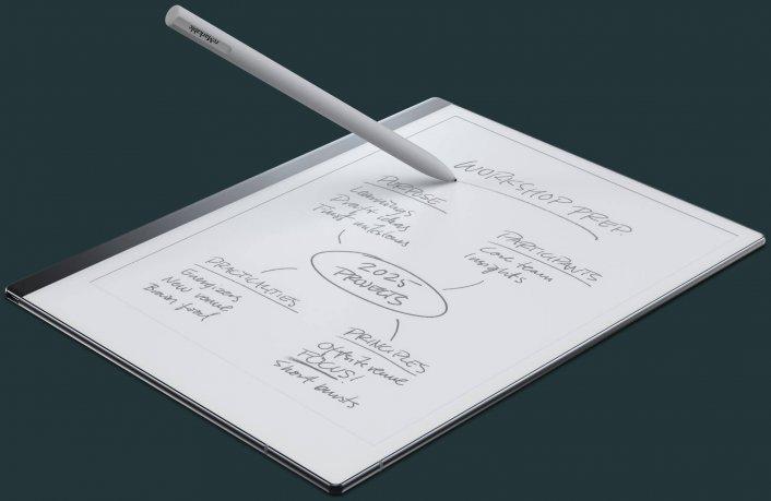 Una tablet que parece un papel y permite escribir a mano alzada