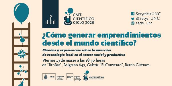 Nuevo café científico: cómo generar emprendimientos desde la ciencia