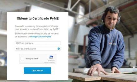 Se extiende la vigencia de los certificados MiPyME que vencían en abril y mayo