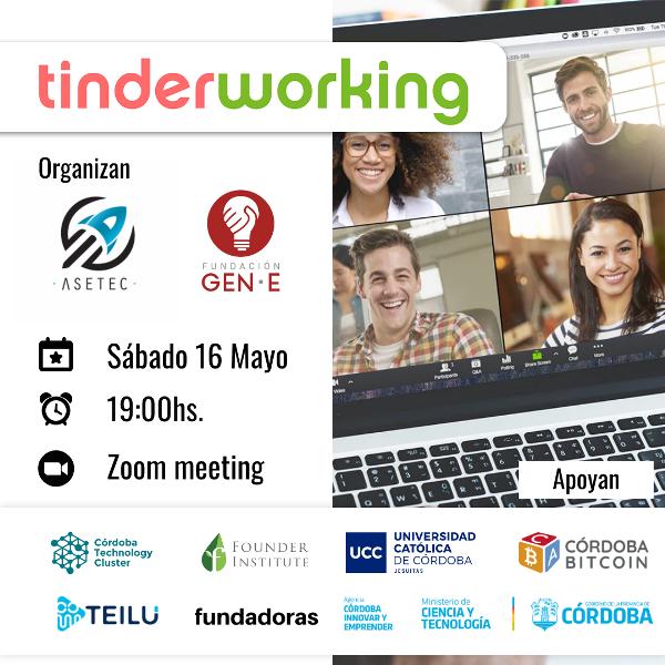 Tinderworking el networking donde las startups buscarán su match