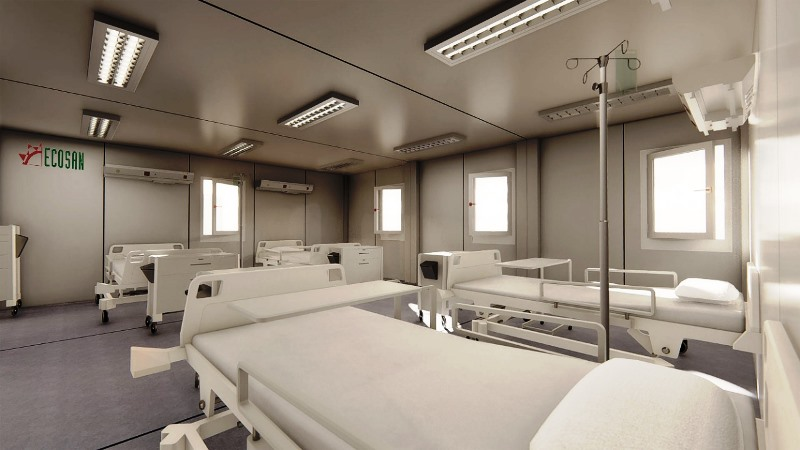 Una pyme argentina construyó 11 hospitales modulares en 20 días