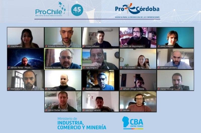 16 empresas tecnológicas de Córdoba y Chile mantuvieron una reunión de negocios