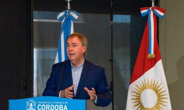 Schiaretti anunció medidas de alivio para la industria turística