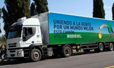 Impulsan el reemplazo del gasoil por biodiesel b100 en el transporte de cargas