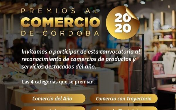 Convocatoria abierta para los Premios al Comercio de Córdoba 2020